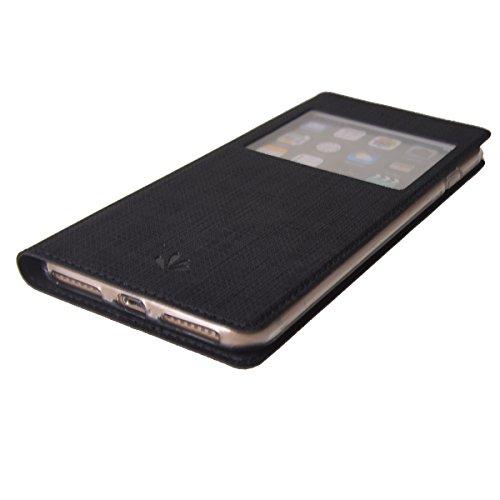 MEIRISHUN Apple iPhone 7 Case,Portafoglio PU Pelle Magnetico Stand Morbido Silicone Flip Bumper Protettivo Gomma Shell Borsa Custodie con Slot per Apple iPhone 7 - Grigio Nero