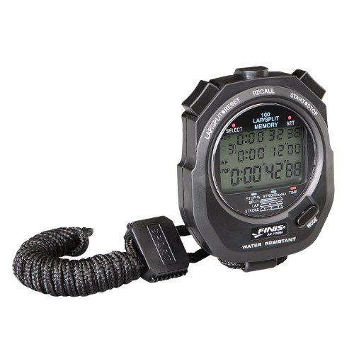 Finis 3X100M Stopwatch, Cronometro digitale multifunzione, Nero