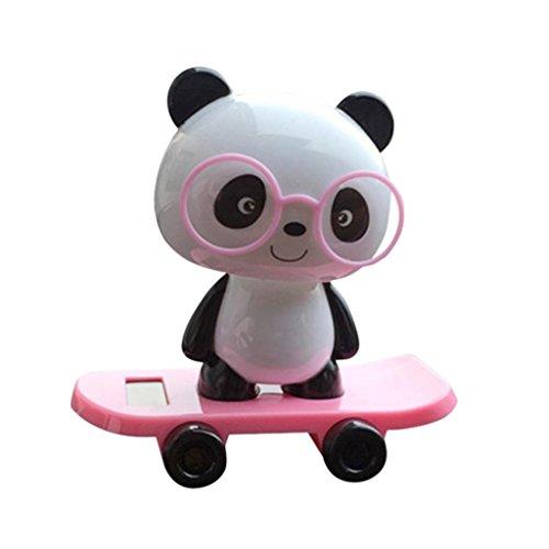 hnachten Solarbetriebene Panda Tiere Tanz Swinging Spielzeug Animierte Bobble Tänzer Auto Dekor Büro Zuhause Deko Neu auto Spielzeug (Pink) (Beste Halloween, Das Licht Zeigt Immer)
