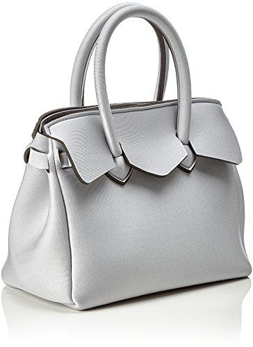 save my bag Petite Miss, Borsa a Mano Donna, 26x23x13 cm (W x H x L) Argento (Filigrana Met)