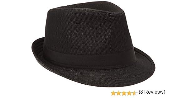 d920fb16ef6e Celio Sihborsa, Chapeau Porkpie Homme, Noir (Black), FR   Large (Taille  Fabricant   2)  Amazon.fr  Vêtements et accessoires