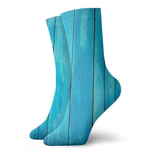 Jhonangel Jungen Mädchen verrückt lustig Meer blau alte hölzerne Eiche Plank gestreiften Wald Socken süße Neuheit Kleid Socken -