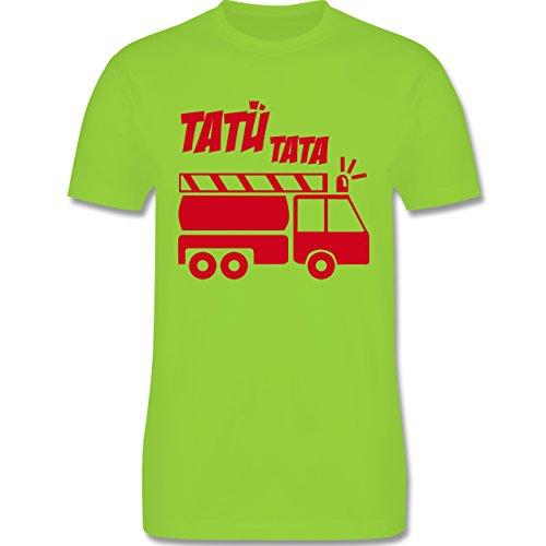 Feuerwehr - Tatü Tata - Herren Premium T-Shirt Hellgrün