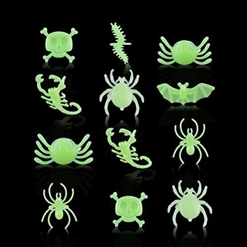 Behandeln Kostüm Oder Trick - Amosfun 12Pcs Halloween Dekoration Creative Toy Spider Finger Ringe für Ghost Festival Kostüm Party Trick oder behandeln Halloween