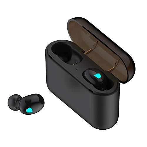 TUANMEIFADONGJI Wireless Headset TWS Wireless Charging Warehouse Stereo-Sportkopfhörer BT5.0 EDR Headset tragbare Wasserdichte Mini In-Ear-Ohrhörer Kopfhörer mit Mikrofon