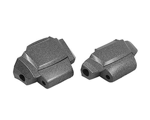 Casio 2x Kappe Endstück Cover End Piece 6H / 12H aus Resin grau für MTG-910D