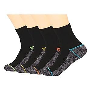 Kupfer Antibakterielle Athletische Socken f¨¹r M?nner und Frauen-Feuchtigkeits-Docht, rutschfeste Kissen Kn?chelsocken