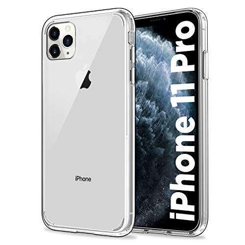 EasyAcc Hülle Case für iPhone 11 Pro, Transparent Schmale Crystal Clear Handyhülle Hart PC am Rücken + Weicher TPU Rahmen [Anti-Vergilben] Schutzhülle Kompatibel mit iPhone 11 Pro 5.8''