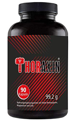 THORAXIN - Hochdosierte Muskelaufbau Kapseln Booster I L-Arginin + BCAA hochdosiert I Bodybuilding Nahrungsergänzungsmittel Fatburner I Aminosäuren Komplex (90 Pillen) Apple-maden-falle