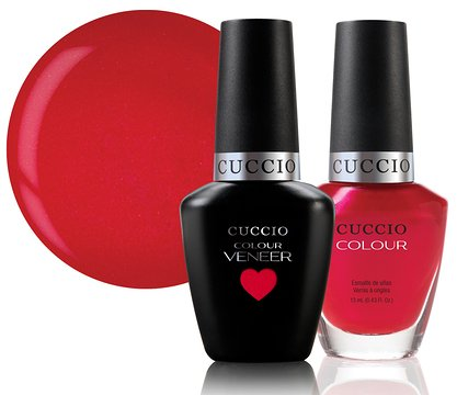 UV/LED Shellac Nagellack 15ml ~ RED LIGHTS IN AMSTERDAM ~ CUCCIO® Veneer Matchmakers ~ Professionelle Maniküre-Produkte 2 x 13ml -