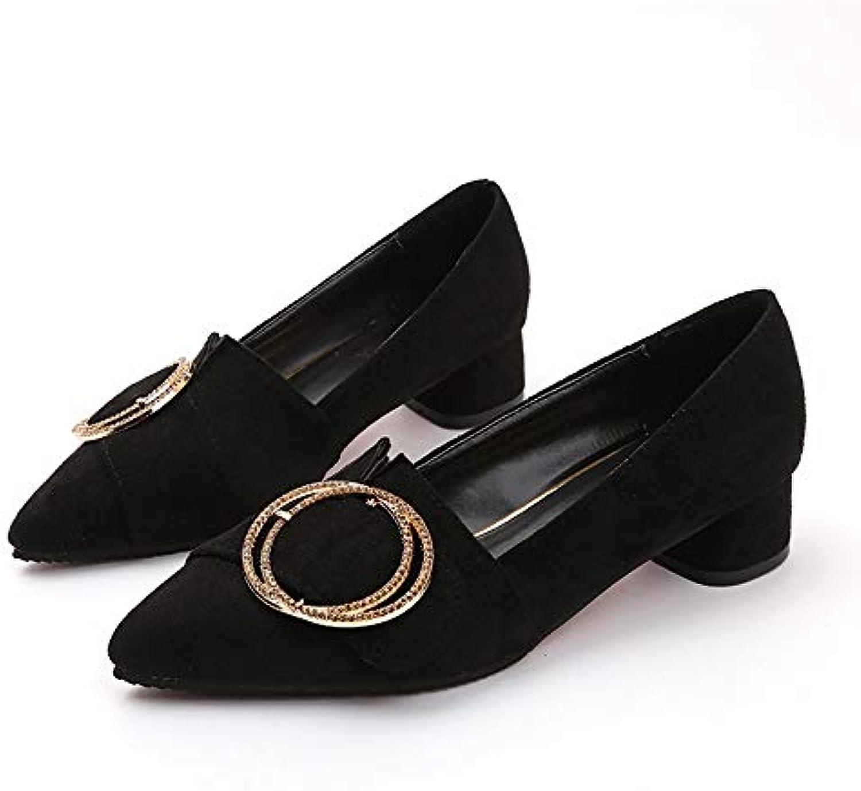 Jqdyl Scarpe con tacco alto Scarpe da donna con spessa scarpe a punta Scarpe da lavoro casual,40 | Ottimo mestiere  | Uomini/Donne Scarpa