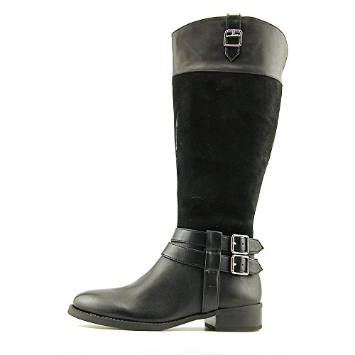 INC International Concepts Fahnee Wide Calf Daim Botte Black