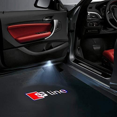 HConce 4 Stück Autotür Logo Einstiegsbeleuchtung Projektion Licht Türbeleuchtung