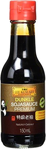 Lee Kum Kee Sojasauce dunkel (aus China, natürlich gebraut, ohne Geschmacksverstärker, würzig) 1 x 150 ml
