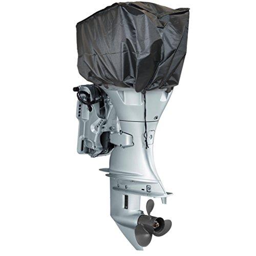 SpeedwellStar Universal Motorabdeckung Persenning für Außenborder Motor-Abdeckung Motor Boot Rib Schwarz Wetter Proof 75 x 33 x 29 cm
