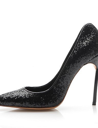 ShangYi Damenschuhe - High Heels - Hochzeit / Kleid / Party & Festivität - Leder - Stöckelabsatz - Absätze - Schwarz / Mehrfarbig Black