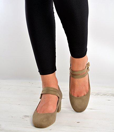 Cucu Fashion, Cinturino Da Donna Alla Caviglia Color Kaki / Marrone