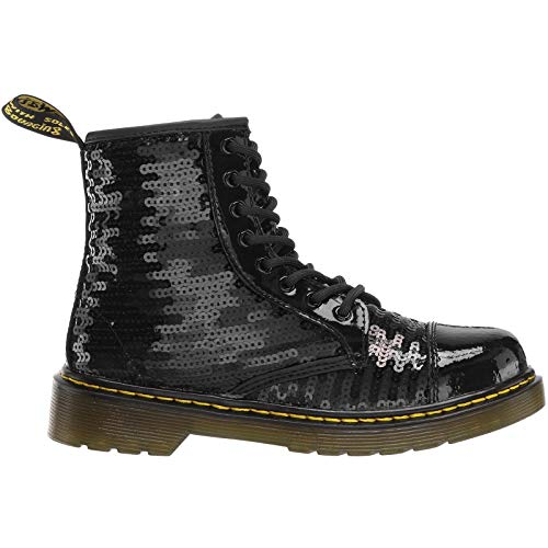 Dr.Martens Youth 1460 Pooch Sequin Patent Lamper Sequins Black Stiefel 38.5 EU Youth Black Patent Schuhe