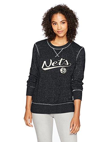 NBA Damen OTS Seneca Rundhalsausschnitt Pullover, Damen, NBA Women's OTS Seneca Crew Neck Pullover, Jet Black, Small Black Collegiate Crew Sweatshirt