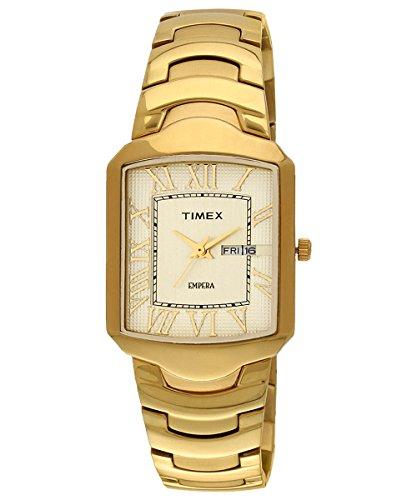 41G1tCQlQIL - Timex CW09 Empera Gold Mens watch