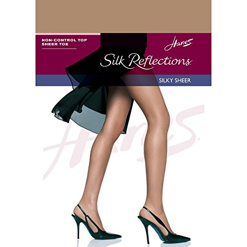Hanes Silk Reflections Sheer Toe Pantyhose Barely There