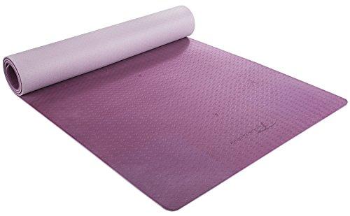 Timberbrother Esterilla de Yoga / Esterilla de TPE Respetuosa con el medio ambiente para Pilates, Gimnasio, Yoga, Ejercicio / Medidas: 183cm x 71cm x 6mm de grosor (Violeta+ Lila)