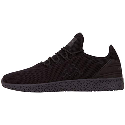 Kappa Unisex-Erwachsene ICON KNT OC Sneaker, Schwarz (Black 1111), 39 EU