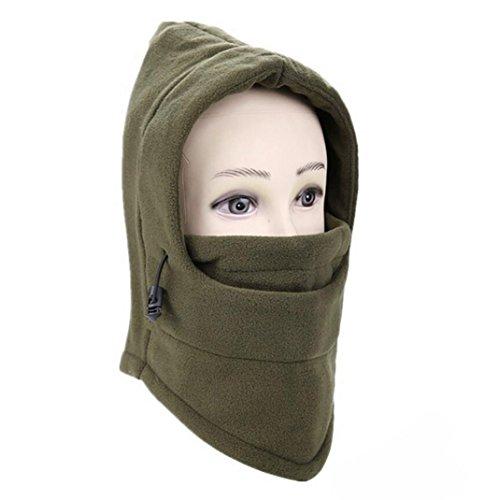 erthome Gesichtshaube Maske 6 in 1 Outdoor Ski Masken Fahrrad Radfahren Mützen Winter Windstopper...