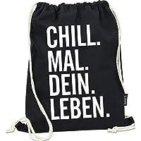 Hashtagstuff® Turnbeutel mit Sprüchen Designs auswählbar Kordel Schwarz Spruch Rucksack Jutebeutel Sportbeutel Gymbag Beutel Hipster