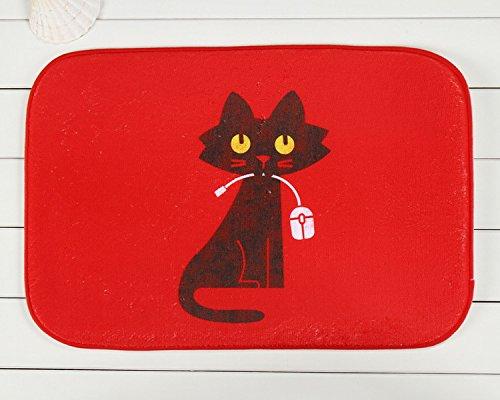 Chat rouge tapis antidérapant tapis en face de chambre tapis 40 * 60cm