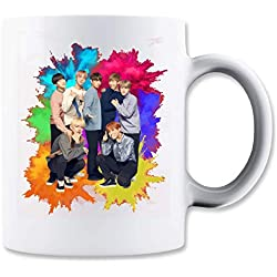 ShutUp BTS Band Colorful Taza para Café y Té