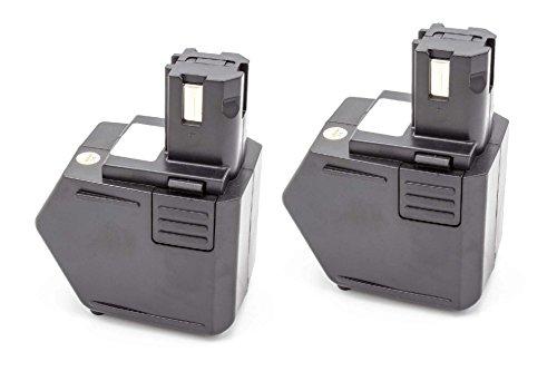 vhbw 2X NiMH Akku 1500mAh (12V) für Elektrowerkzeug Werkzeug Powertools Tools Hilti SB12, SF120-A, SFB105, SFB125, SFL12