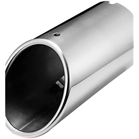 DBRGR® cromo scarico silenziatore punta tubo di coda per audi a4 b8 1.8t 2.0t 2009-2015