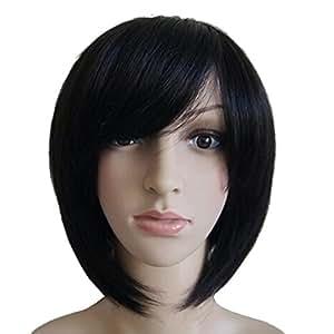 tangda perruque vrai cheveux court raide liss brun femme. Black Bedroom Furniture Sets. Home Design Ideas