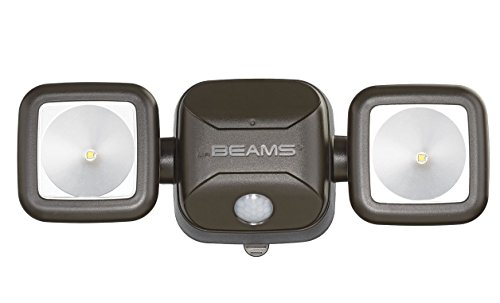 MrBeams Spot LED à piles avec détecteur de mouvement, Plastique, 1er-Pack braun, 1er-Pack