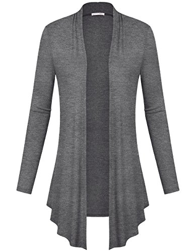 messic-damen-vorne-offen-long-sleeve-slim-soft-drapierung-cardigan-tops-gr-xxl-colorful-gray