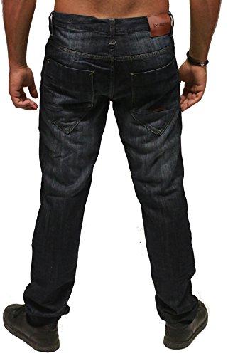 Rocawear Herren Jeans / Antifit Tapered Loose Fit Manhattan Wash