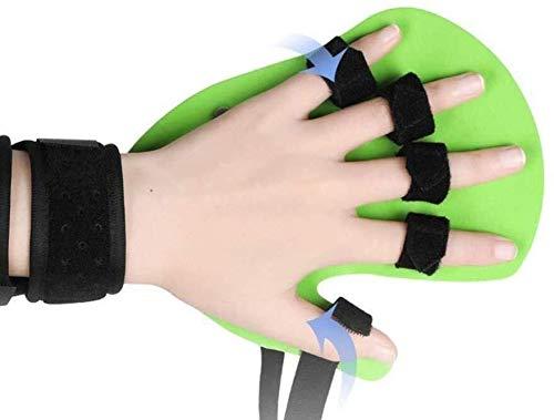 Schlaganfall-Reha-Ausrüstung, Finger Trainingsgerät for Schlaganfall/Hemiplegia/traumatische Hirnverletzung, Finger Splint Training Board 1229 (Color : Left, Size : Small)