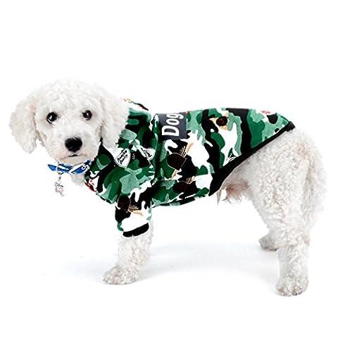 smalllee _ Lucky _ store Hund Schneeanzug Haustier Kapuzenjacke Hund Kleidung für kleine Hunde Chihuahua hundemantel Hoodies Shih Tzu Winter (Christmas Ribbon Clearance)