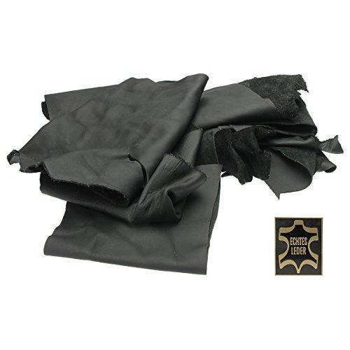 Lederreste schwarz 500g. Verschnittstücke Bastelware von Langlauf Schuhbedarf®