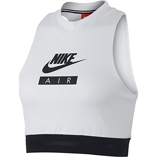 Nike W NSW Crop Air, Top Damen S Bianco/Nero/Nero (Crop Top Nike)
