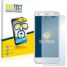 2x BROTECT HD-Clear Protector Pantalla ZTE Blade S6 Película Protectora – Transparente, Anti-Huellas