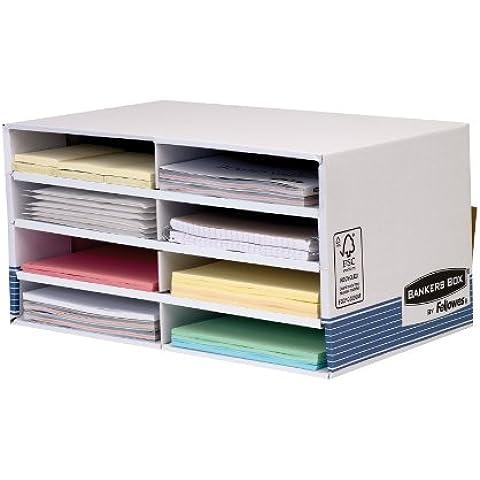 Fellowes Bankers Box - Caja para material de oficina con 8 compartimentos, color azul