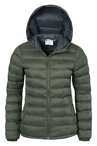 Mountain Warehouse Seasons Damen gefütterte jacke mantel Steppjacke mantel sportlich outdoor wandern warm Khaki