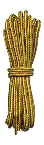 Fabmania Lacets pour Chaussures de Randonne rayures Jaunes et Brunes 4mm diametre
