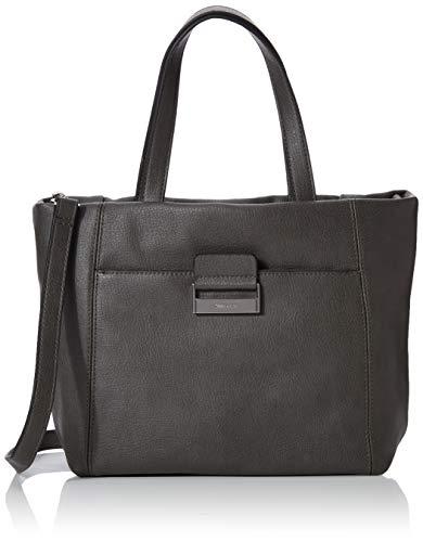 Gerry Weber Damen Be Different Handbag MHz Henkeltasche, Grau (Dark Grey), 12.5x23x36 cm