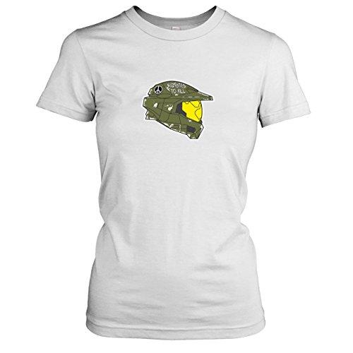 TEXLAB - Master Chief - Damen T-Shirt, Größe XL, weiß (Master Chief Helm Kostüme)