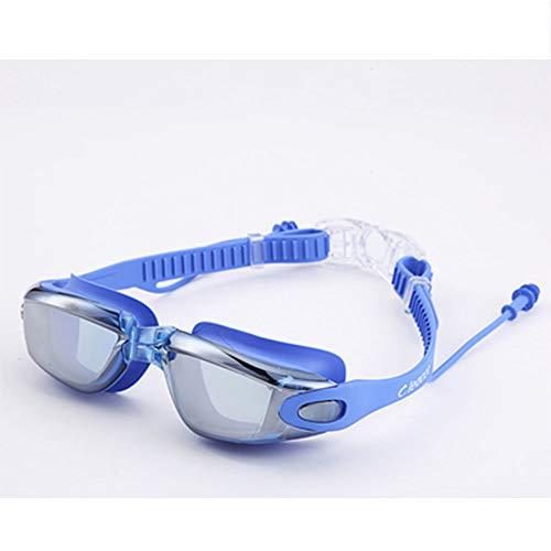 Likuoo HD Wasserdicht und beschlagfrei großen Rahmen für Erwachsene Männer und Frauen Tauchen Schwimmen Gläser schöne Ohrstöpsel zu senden
