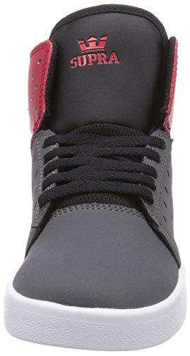 Supra KIDS ATOM Unisex-Kinder Hohe Sneakers Grau (GREY/RED - WHITE     GYR)