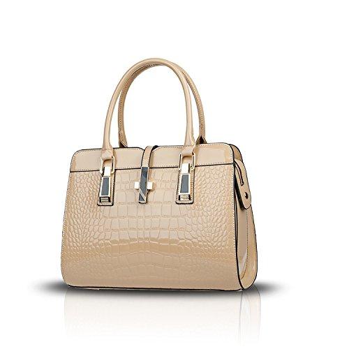 Tisdain La borsa delle signore adatta il modello del coccodrillo della pelle scamosciata dell'unità di elaborazione della borsa del messaggero lucido Cachi